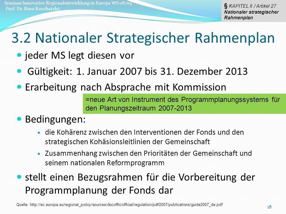 jeder MS legt diesen vor Gültigkeit: 1.Januar 2007 bis 31.