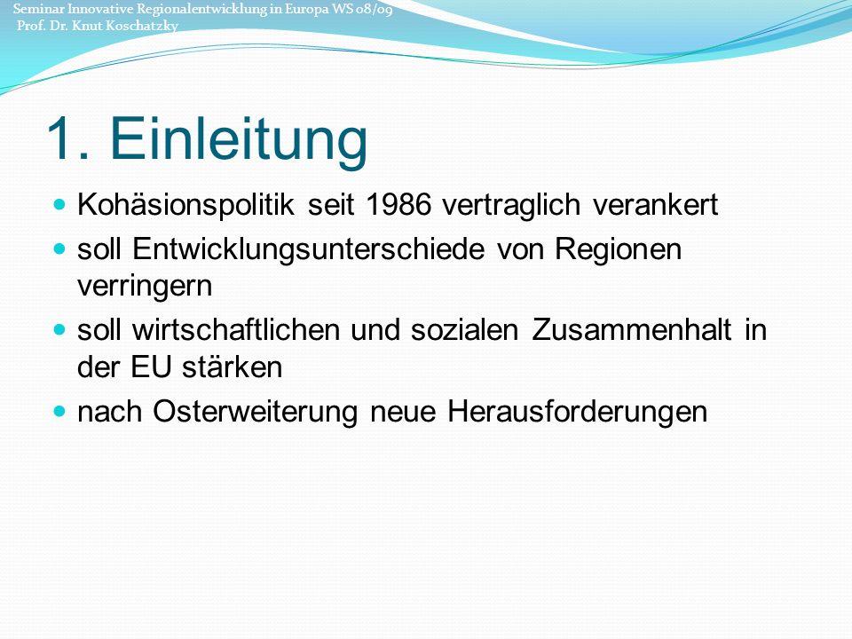 1.Einleitung 7. Rahmenprogramm: Budget von 347 Mrd.