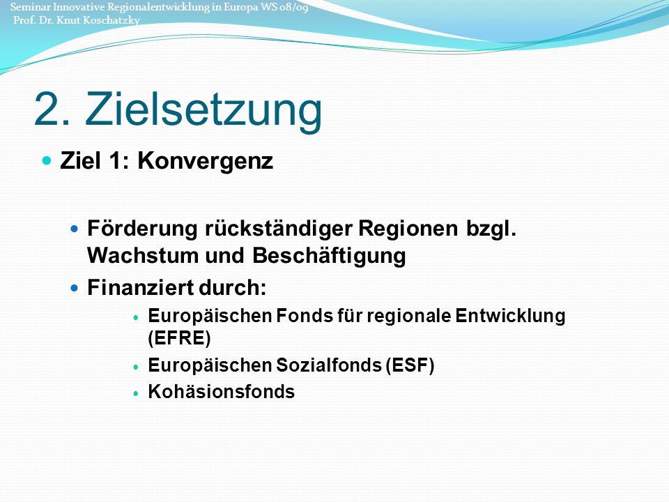 36 Quelle: http://ec.europa.eu/regional_policy/sources/docoffic/official/regulation/pdf/2007/publications/guide2007_de.pdf Seminar Innovative Regionalentwicklung in Europa WS 08/09 Prof.