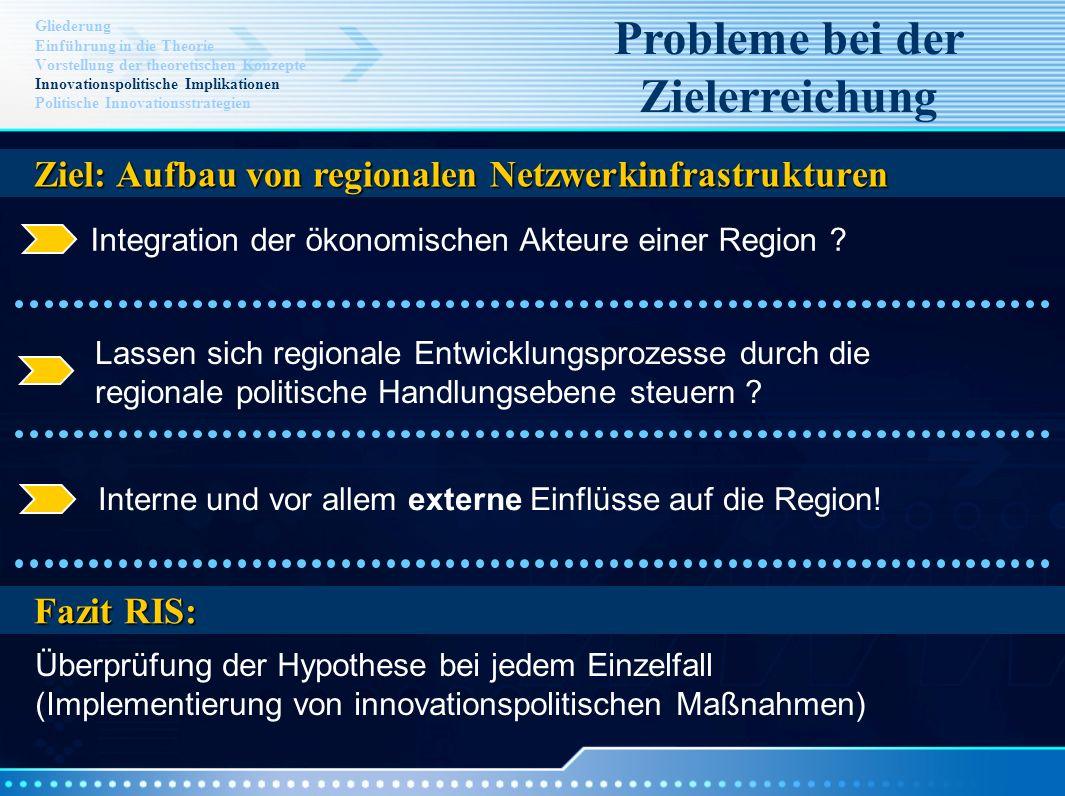 Integration der ökonomischen Akteure einer Region ? Lassen sich regionale Entwicklungsprozesse durch die regionale politische Handlungsebene steuern ?
