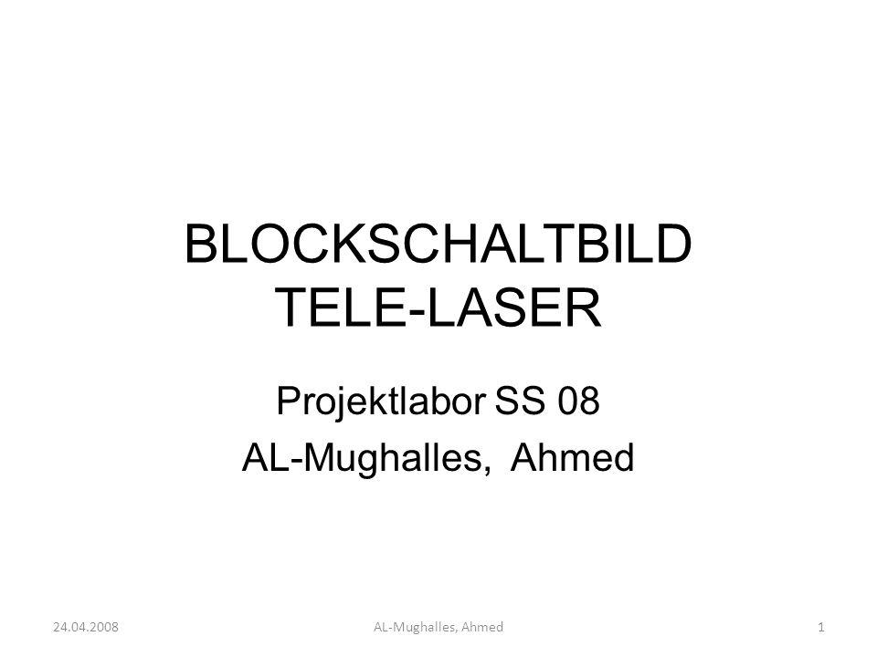 Blockschaltbild 24.04.2008AL-Mughalles, Ahmed12 Mikrofon Hallo Gruppe X Mic-Verstärker Filter(TP) Modulator Sendestation Empfangsstation Laserstrahl Verstärker Demodulator