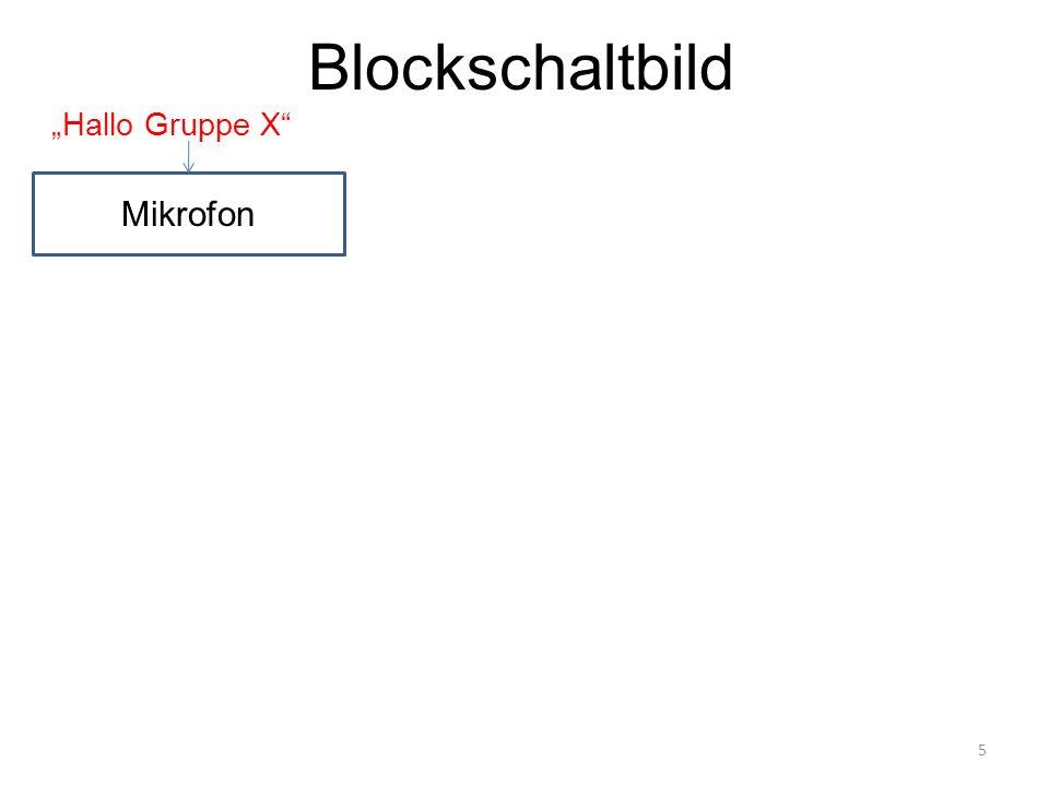 Blockschaltbild 5 Mikrofon Hallo Gruppe X