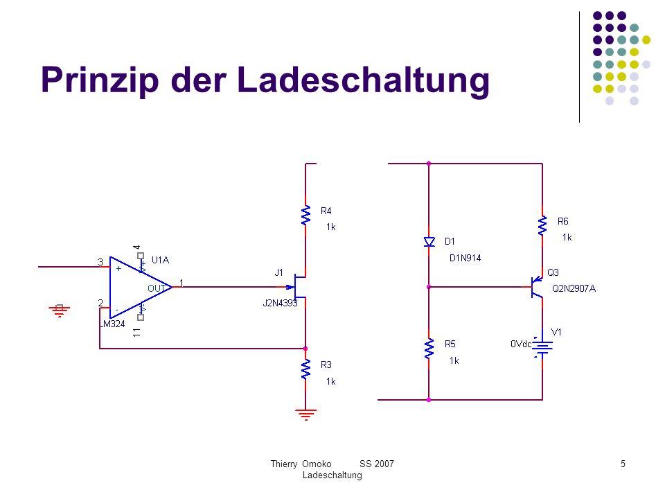 Thierry Omoko SS 2007 Ladeschaltung 6 Ladeverfahren Konstantstromladeverfahren Pulsladeverfahren –ΔU Ladeverfahren Konstantspannungsladeverfahren