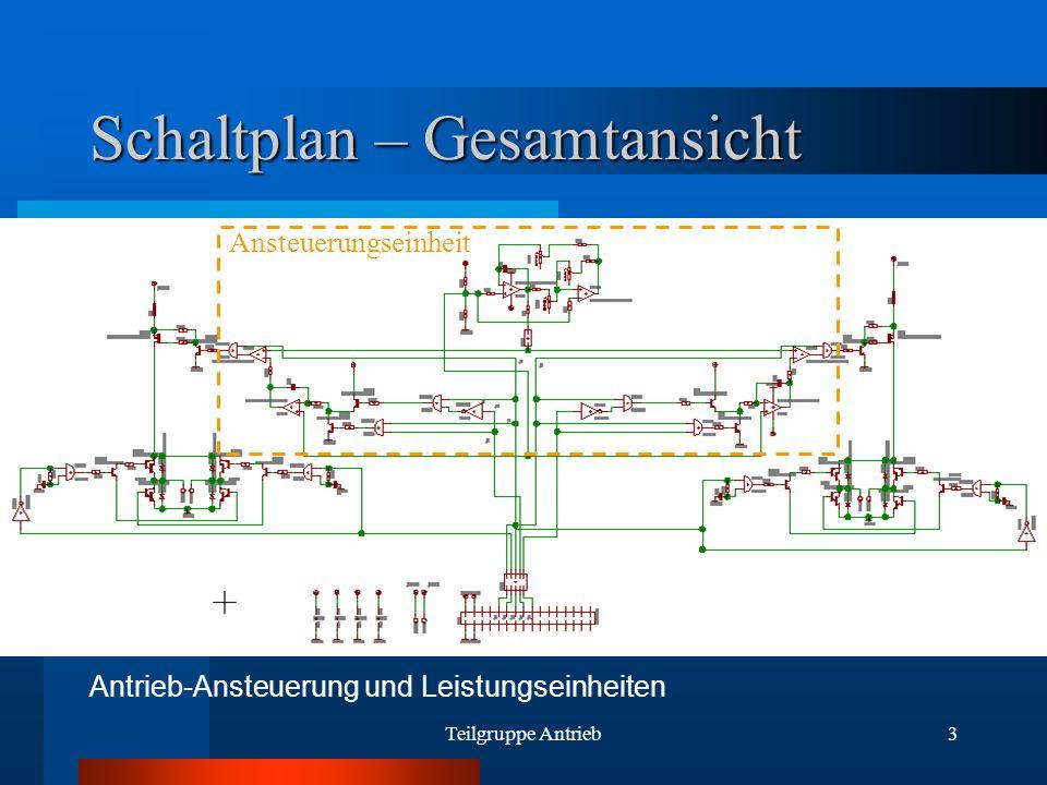 Teilgruppe Antrieb3 Schaltplan – Gesamtansicht Antrieb-Ansteuerung und Leistungseinheiten Ansteuerungseinheit