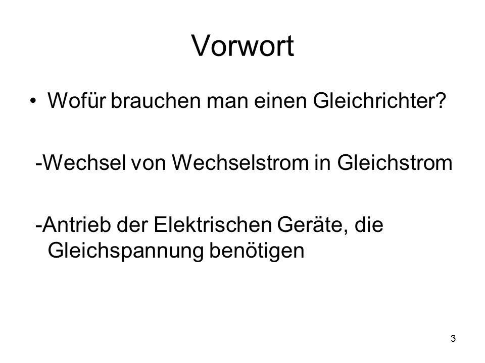 4 Geschichte Anfang des 20.Jahrhunderts gab es erste mechanische Gleichrichter Die erste Halbleitergleich- richter wurden von dem deutschen Physiker Karl Ferdinand Braun erfunden, in Form von Selen -Plattengleichrichtern