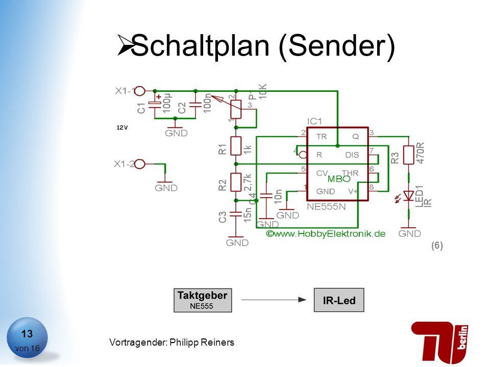 Philipp Reiners von 16 Vortragender: Philipp Reiners 13 Schaltplan (Sender) (6)