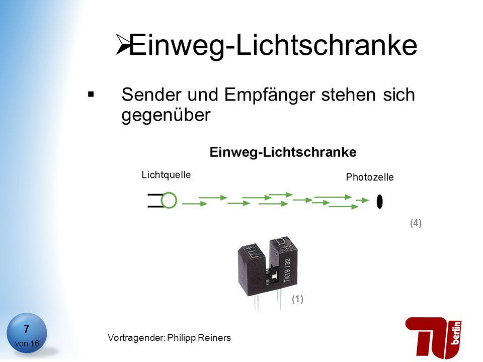Philipp Reiners von 16 Vortragender: Philipp Reiners 7 Einweg-Lichtschranke Sender und Empfänger stehen sich gegenüber (4) (1)