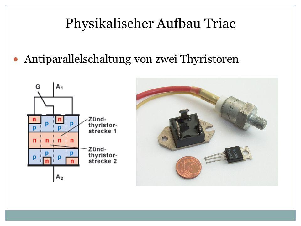Physikalischer Aufbau Triac Antiparallelschaltung von zwei Thyristoren