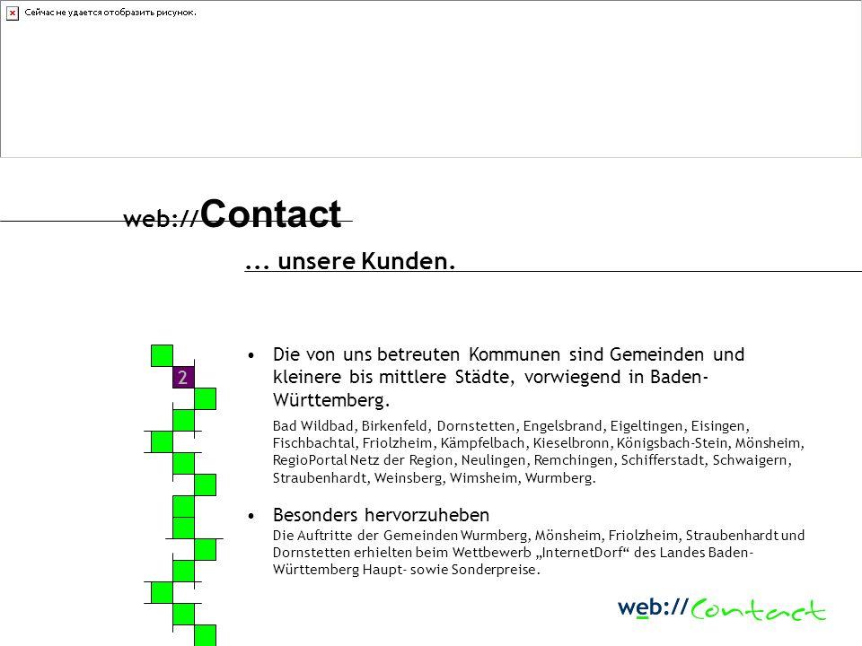 1 web:// Contact wer wir sind...Seit 1997 erstellen, pflegen und hosten wir Internetauftritte.