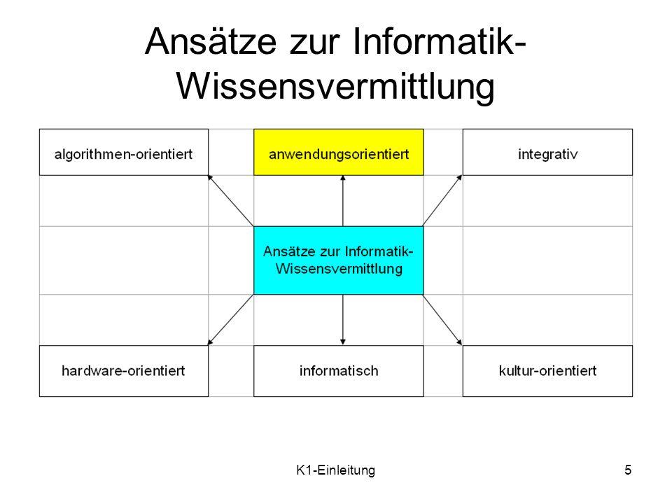 K1-Einleitung6 Wie soll die Anwendungsorien-tierung umgesetzt werden.