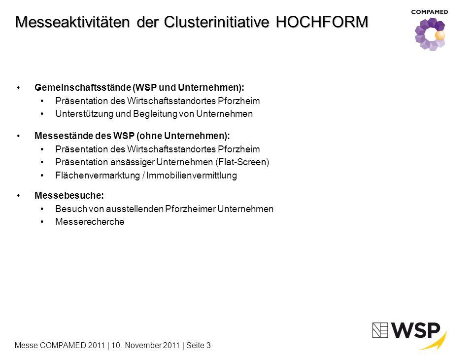 24 Unternehmen aus der Wirtschaftsregion Pforzheim sind bei der COMPAMED und der parallel stattfindenden Messeveranstaltung MEDICA vertreten.
