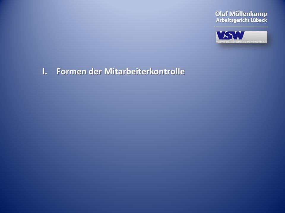 Olaf Möllenkamp Arbeitsgericht Lübeck VII. Aktuelle Fälle