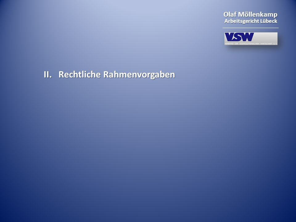 Olaf Möllenkamp Arbeitsgericht Lübeck § 87 Abs.