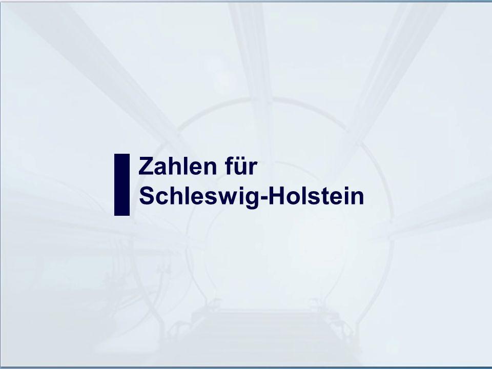 Zahlen für Schleswig-Holstein