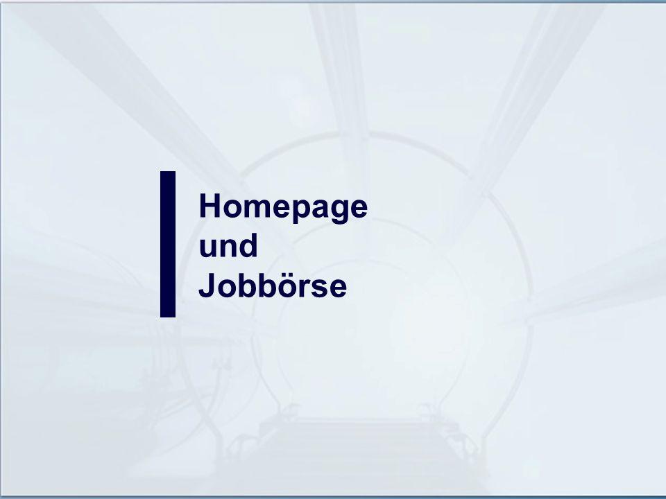 Homepage und Jobbörse