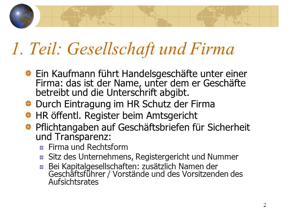 13 Sonderform: GmbH & Co.KG Im Grundsatz eine KG, also eine Personengesellschaft.
