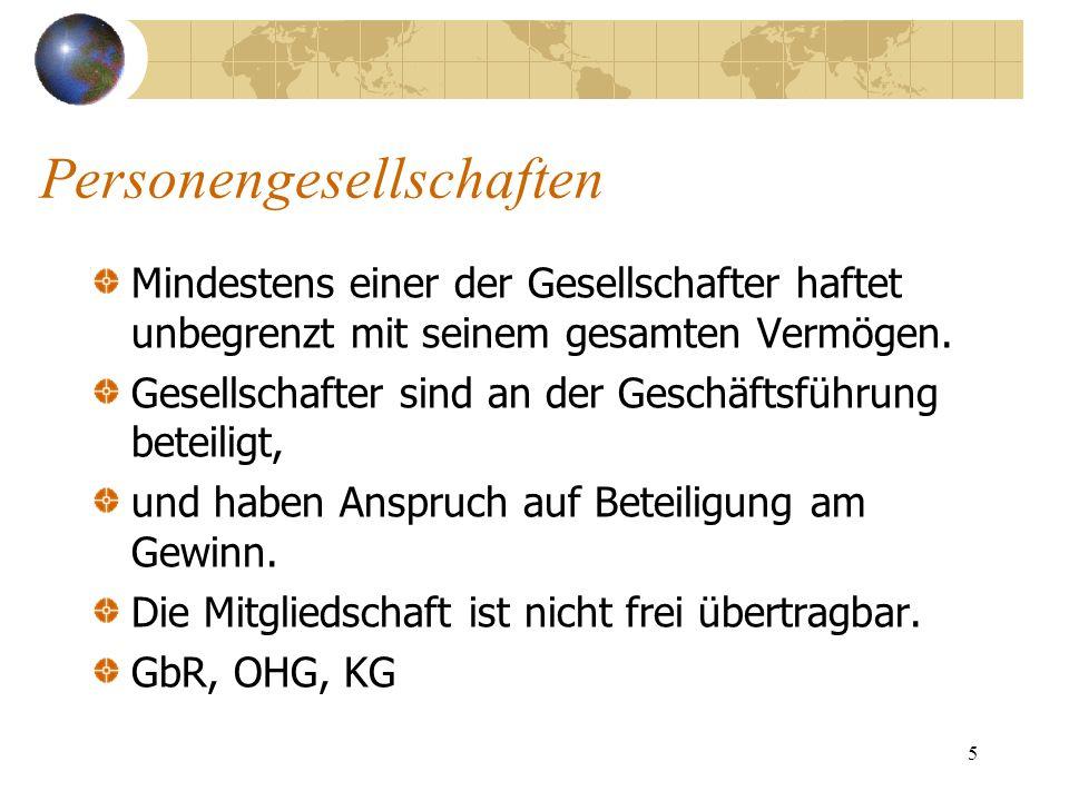 16 Außerdem ist Kaufmann, … wer sich als Kleingewerbetreibender im HR eintragen läßt (Kann- Kaufmann); die Handelsgesellschaften OHG, KG und GmbH& Co.