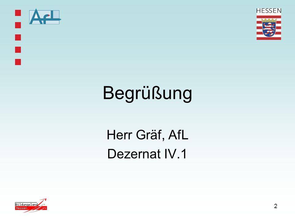 2 Begrüßung Herr Gräf, AfL Dezernat IV.1