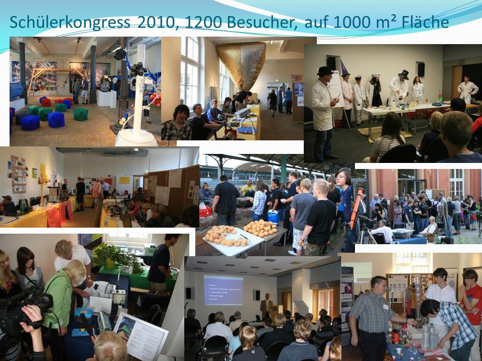 Schülerkongress 2010, 1200 Besucher, auf 1000 m² Fläche