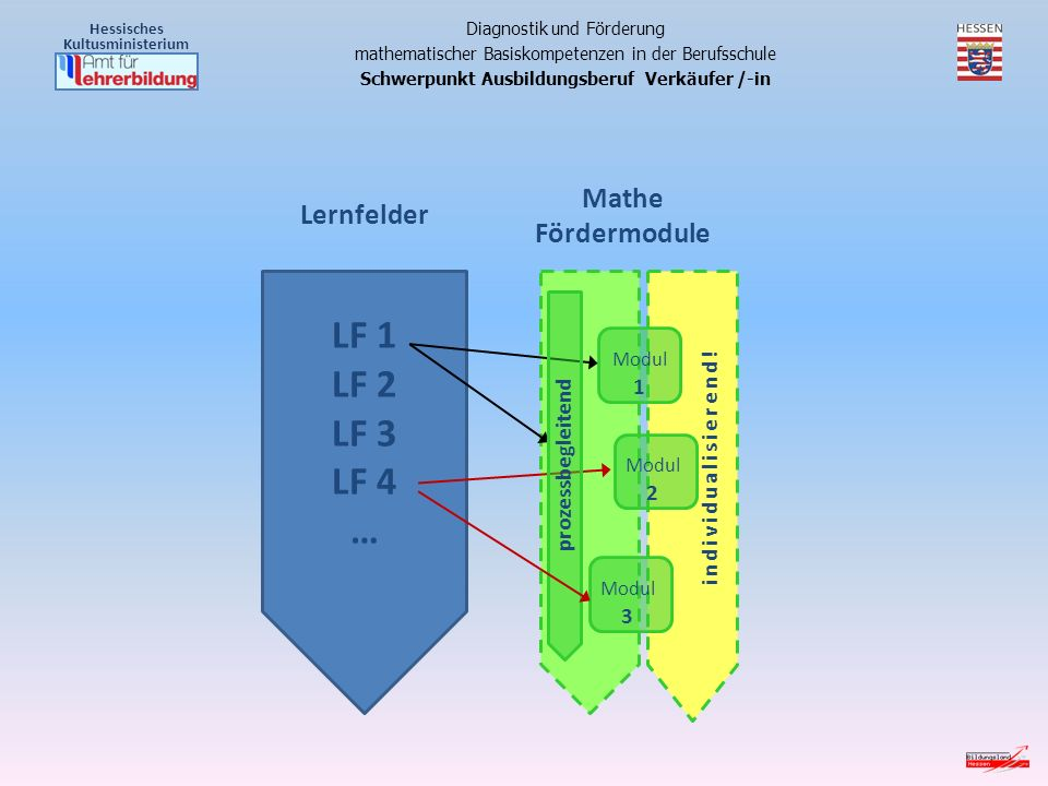 LF 1 LF 2 LF 3 LF 4 … Mathe Fördermodule Modul 1 Modul 2 Modul 3 individualisierend.