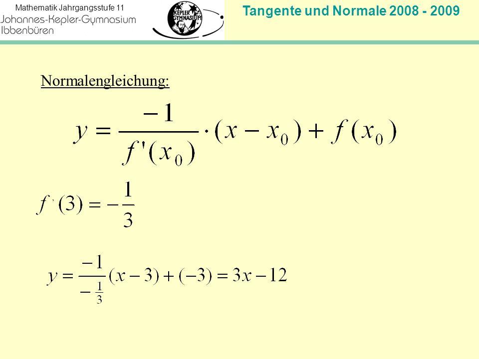 Tangente und Normale 2008 - 2009 Mathematik Jahrgangsstufe 11 1.Was bedeutet Verlängerung ohne Knick.
