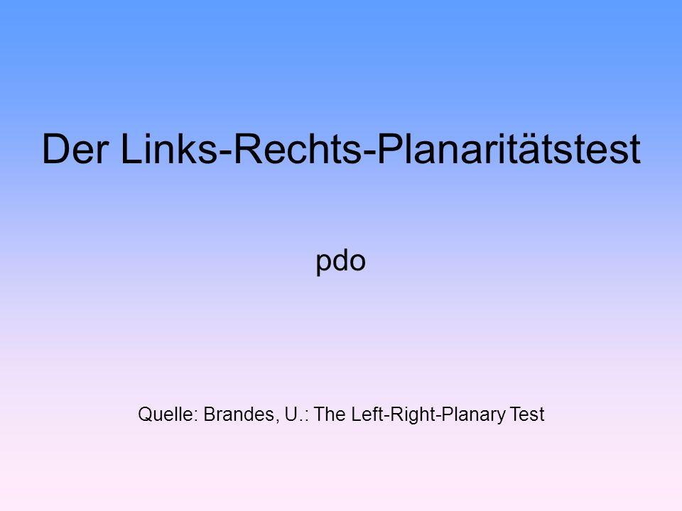 Der Links-Rechts-Planaritätstest pdo Quelle: Brandes, U.: The Left-Right-Planary Test
