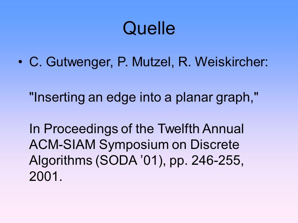 Quelle C. Gutwenger, P. Mutzel, R.