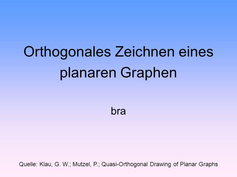 Orthogonales Zeichnen eines planaren Graphen bra Quelle: Klau, G.