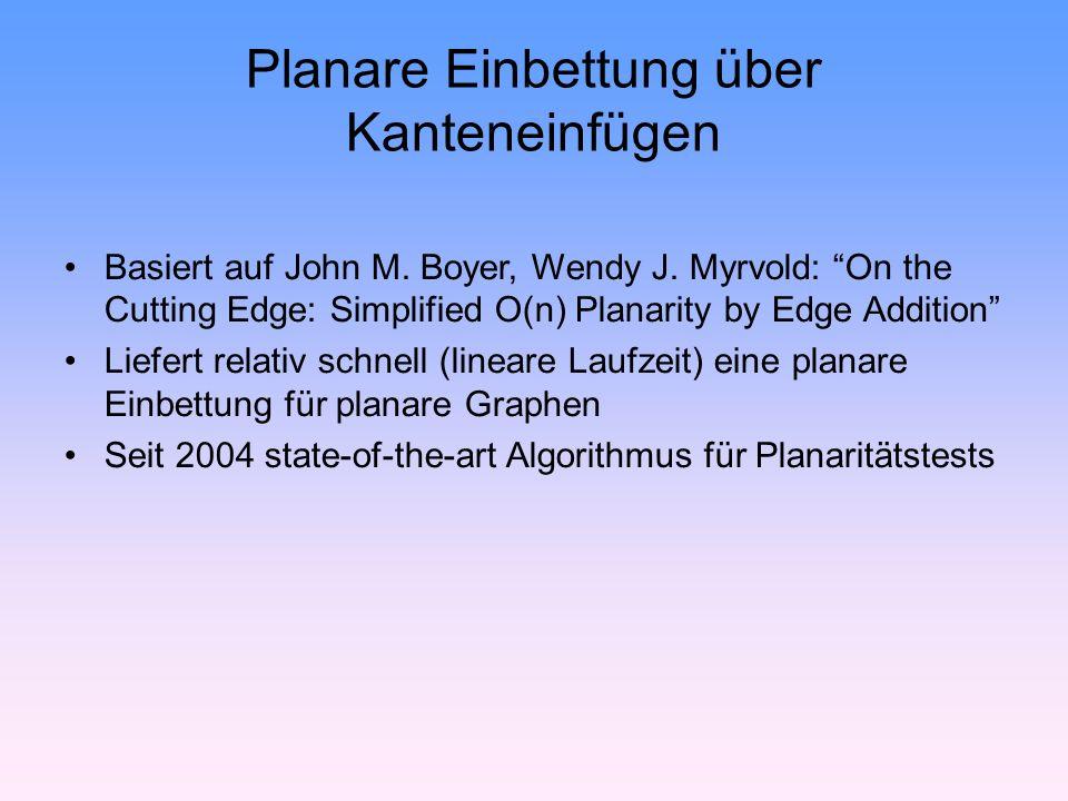 Planare Einbettung über Kanteneinfügen Basiert auf John M.