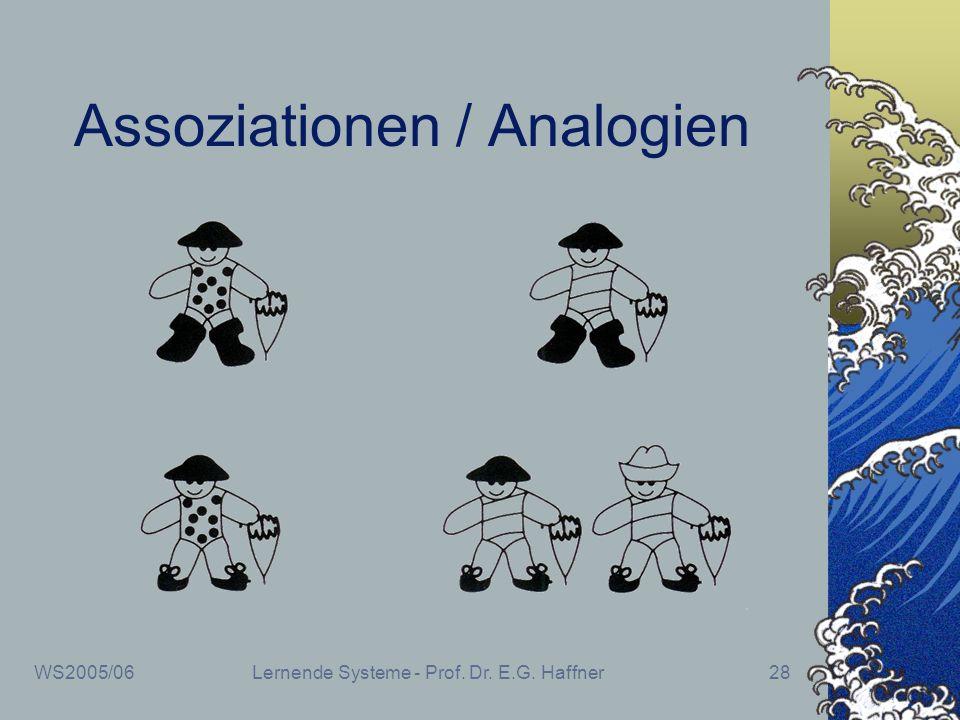 WS2005/06Lernende Systeme - Prof. Dr. E.G. Haffner28 Assoziationen / Analogien