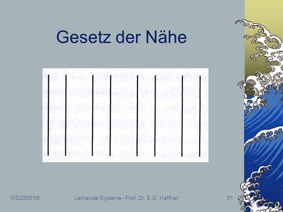 WS2005/06Lernende Systeme - Prof. Dr. E.G. Haffner31 Gesetz der Nähe