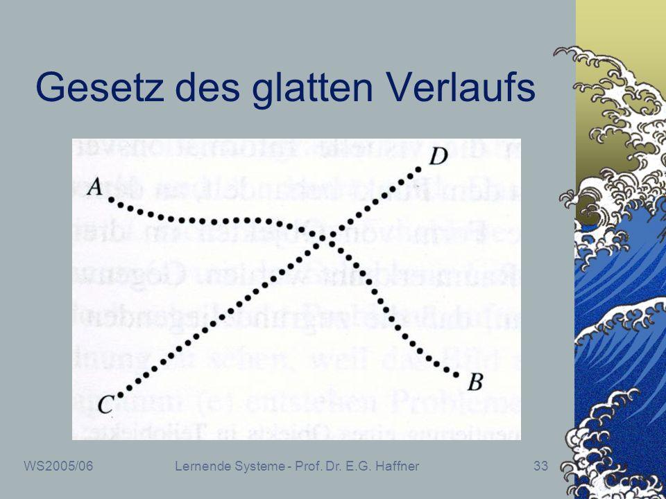 WS2005/06Lernende Systeme - Prof. Dr. E.G. Haffner33 Gesetz des glatten Verlaufs