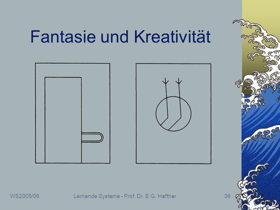 WS2005/06Lernende Systeme - Prof. Dr. E.G. Haffner36 Fantasie und Kreativität
