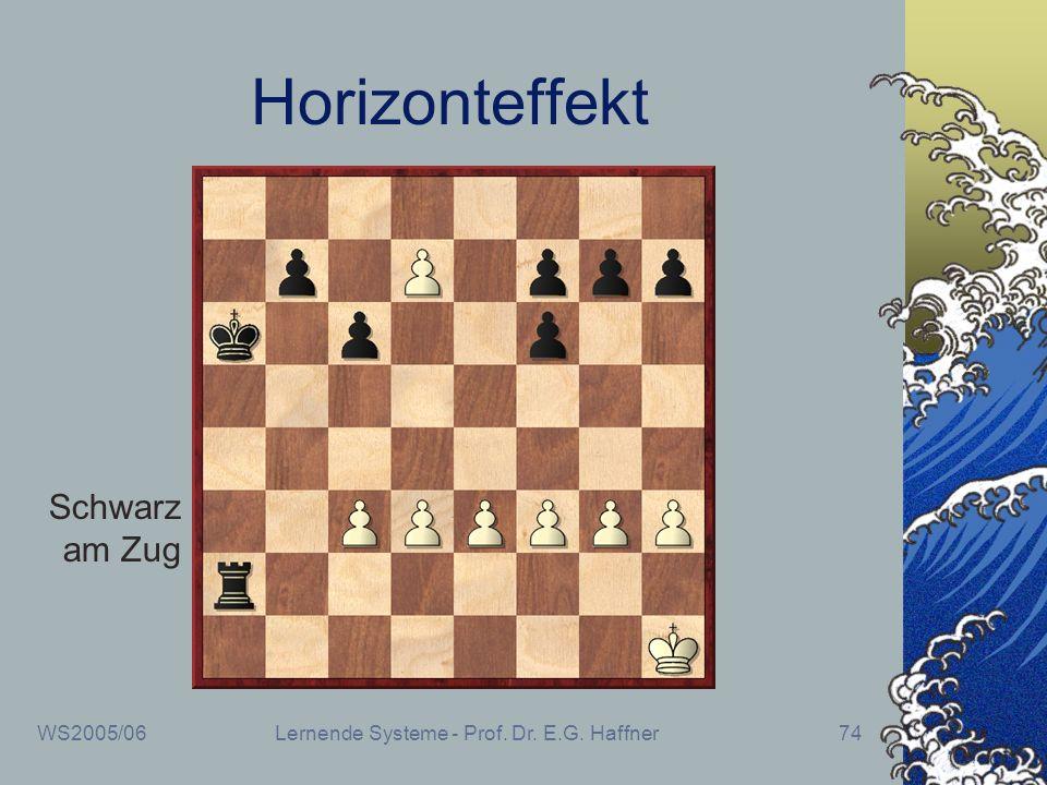 WS2005/06Lernende Systeme - Prof. Dr. E.G. Haffner74 Horizonteffekt Schwarz am Zug