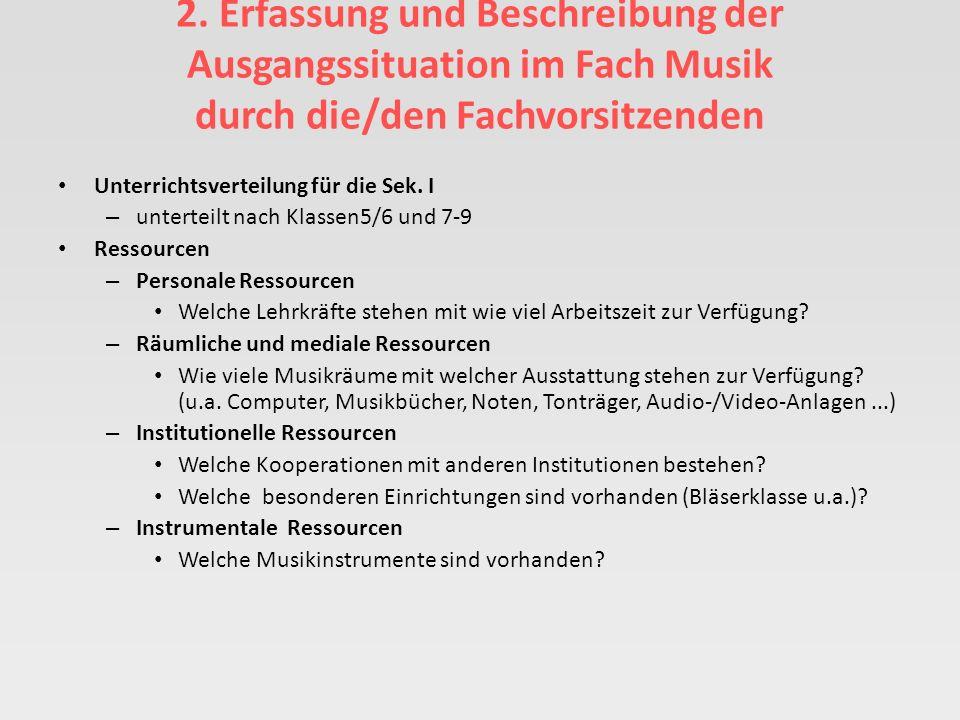 und schließlich 7. Formulierung des Haus-Curriculums Musik durch eine Arbeitsgruppe