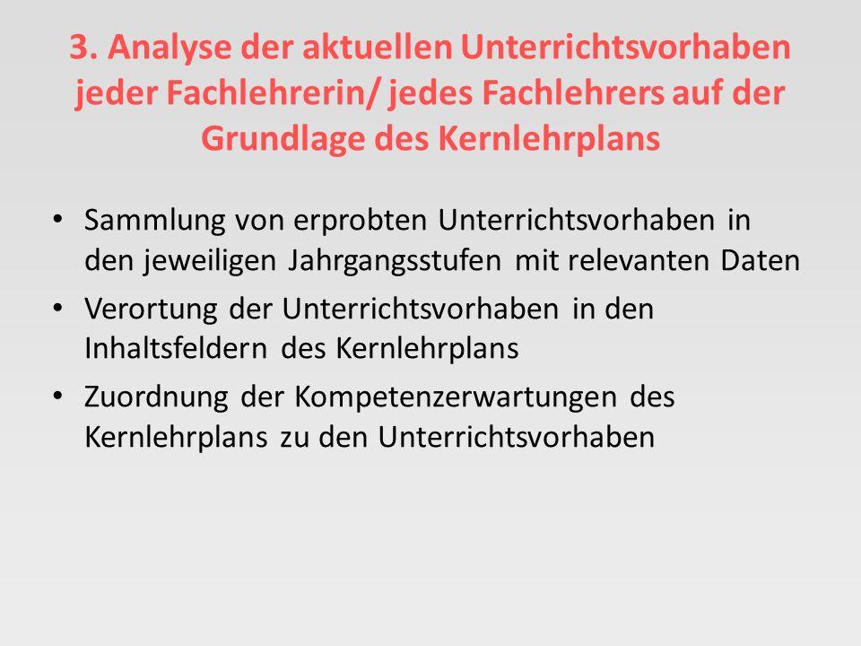 2. Erfassung und Beschreibung der Ausgangssituation im Fach Musik durch die/den Fachvorsitzenden Unterrichtsverteilung für die Sek. I – unterteilt nac