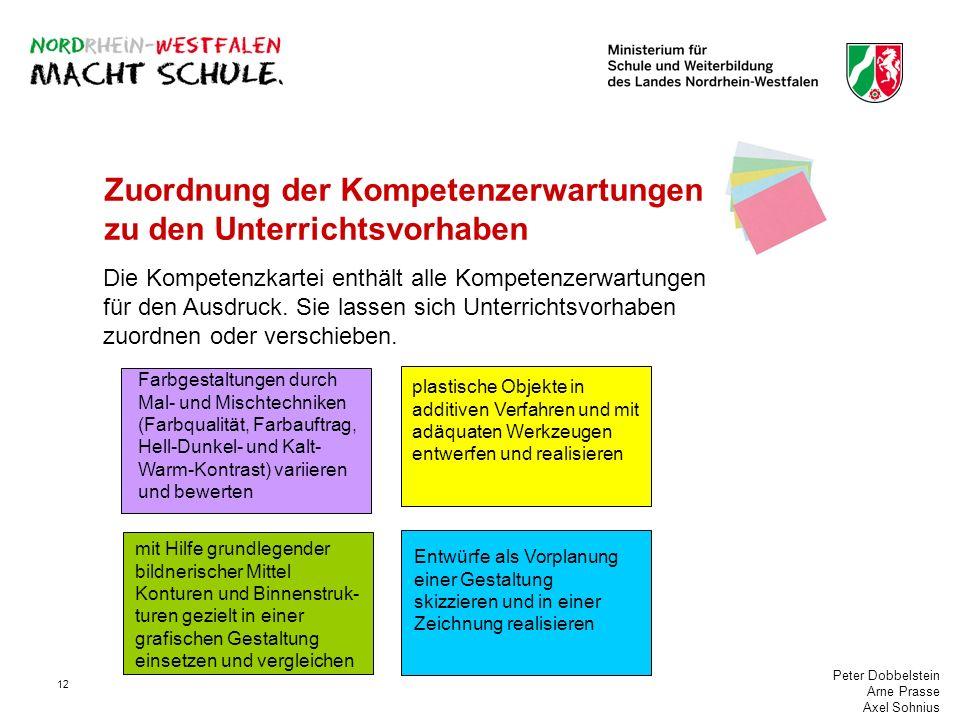 Peter Dobbelstein Arne Prasse Axel Sohnius 12 Zuordnung der Kompetenzerwartungen zu den Unterrichtsvorhaben Die Kompetenzkartei enthält alle Kompetenz