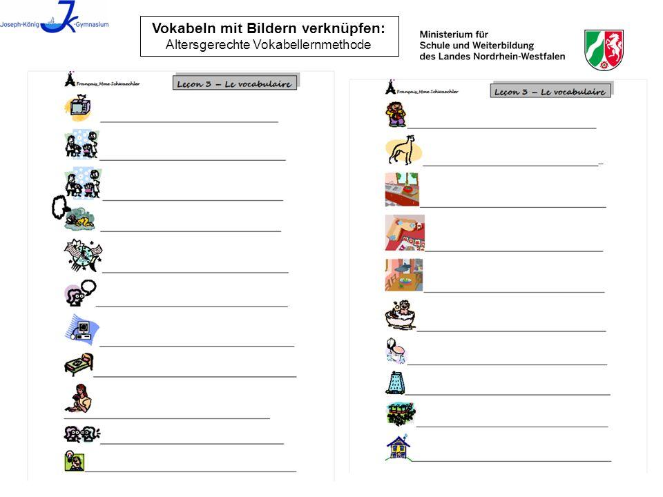 Düsseldorf, 18.03.201321 Vokabeln mit Bildern verknüpfen: Altersgerechte Vokabellernmethode