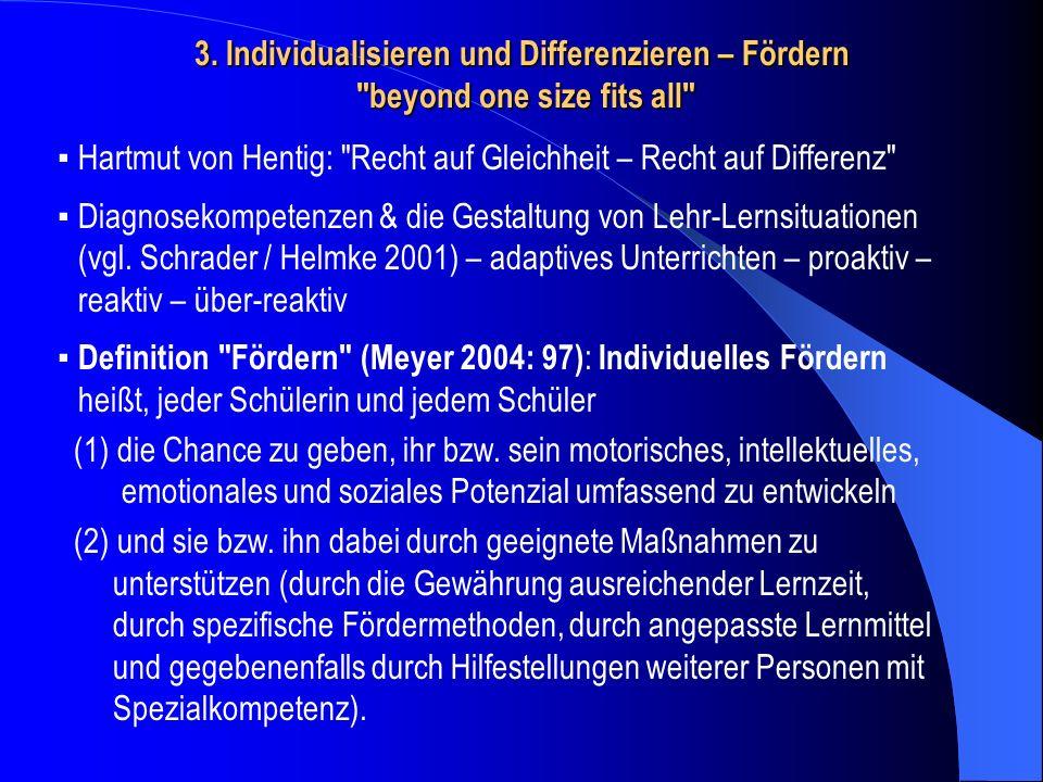 3. Individualisieren und Differenzieren – Fördern