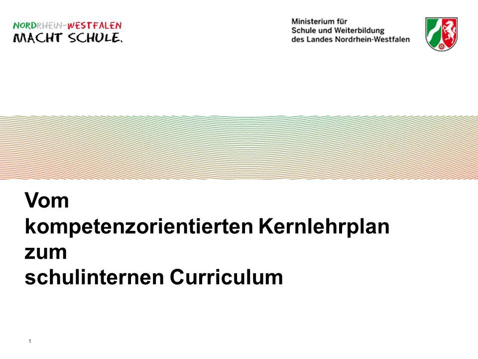 1 Vom kompetenzorientierten Kernlehrplan zum schulinternen Curriculum