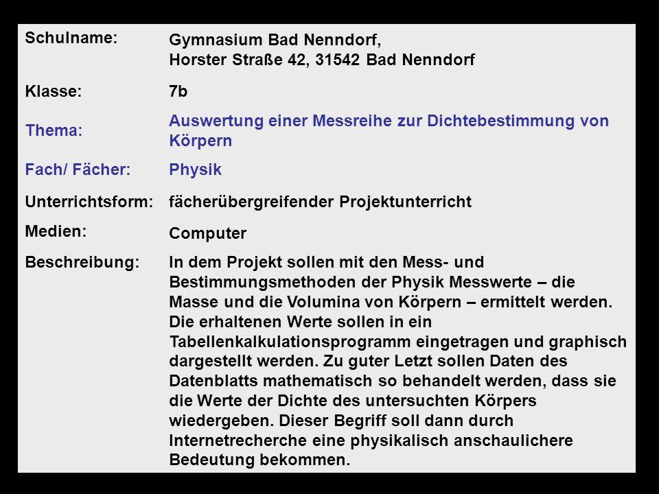 2007Portfolio: Medienkompetenz - Claudia Werner & Claudia Wilholt Schulname: Gymnasium Bad Nenndorf, Horster Straße 42, 31542 Bad Nenndorf Klasse:7b T