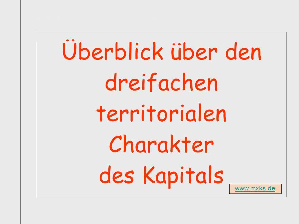 Titelfolie Buch1 Abschnitt1 Überblick über den dreifachen territorialen Charakter des Kapitals www.mxks.de