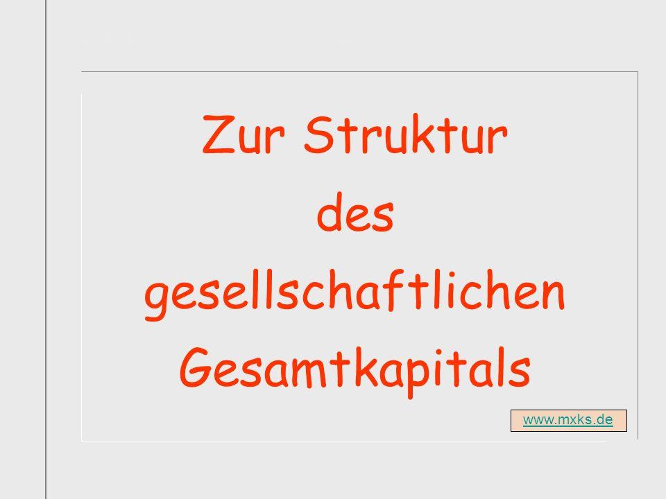 Titelfolie Buch1 Abschnitt1 Zur Struktur des gesellschaftlichen Gesamtkapitals www.mxks.de