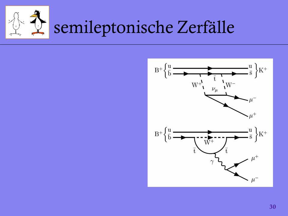 30 semileptonische Zerfälle