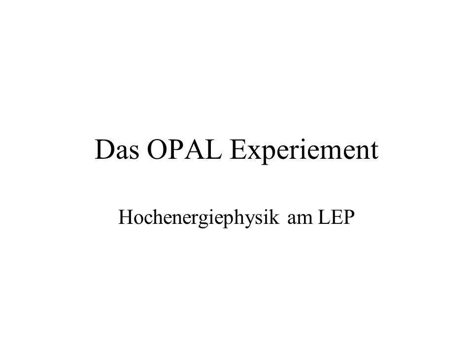 Das OPAL Experiement Hochenergiephysik am LEP