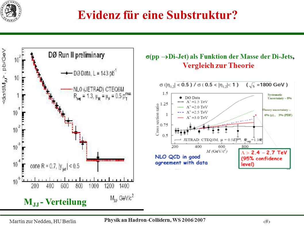 Martin zur Nedden, HU Berlin 10 Physik an Hadron-Collidern, WS 2006/2007 Evidenz für eine Substruktur.
