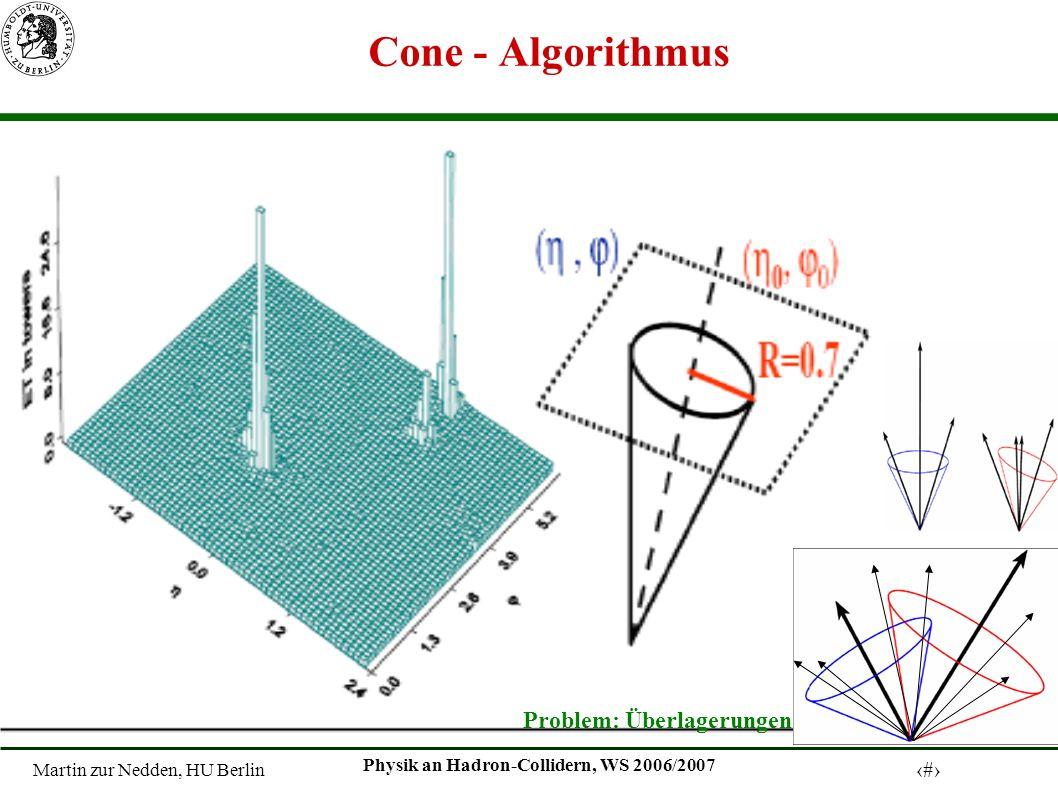 Martin zur Nedden, HU Berlin 4 Physik an Hadron-Collidern, WS 2006/2007 Cone - Algorithmus Problem: Überlagerungen