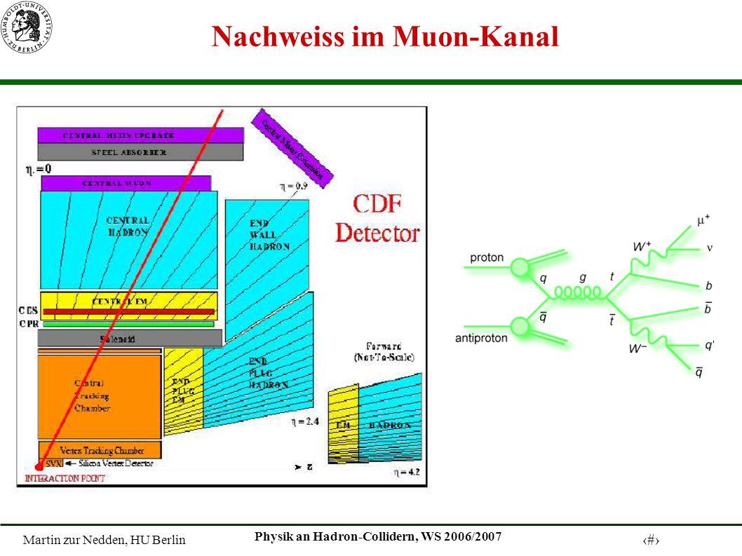 Martin zur Nedden, HU Berlin 16 Physik an Hadron-Collidern, WS 2006/2007 Nachweiss im Muon-Kanal