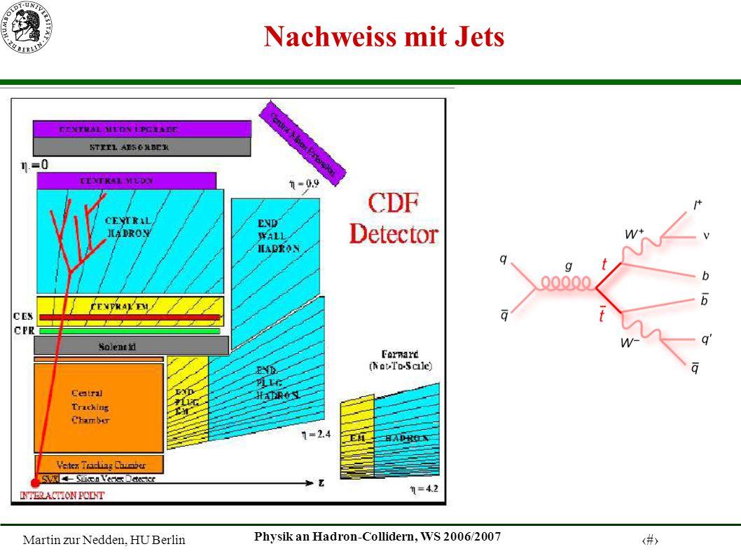 Martin zur Nedden, HU Berlin 18 Physik an Hadron-Collidern, WS 2006/2007 Nachweiss mit Jets