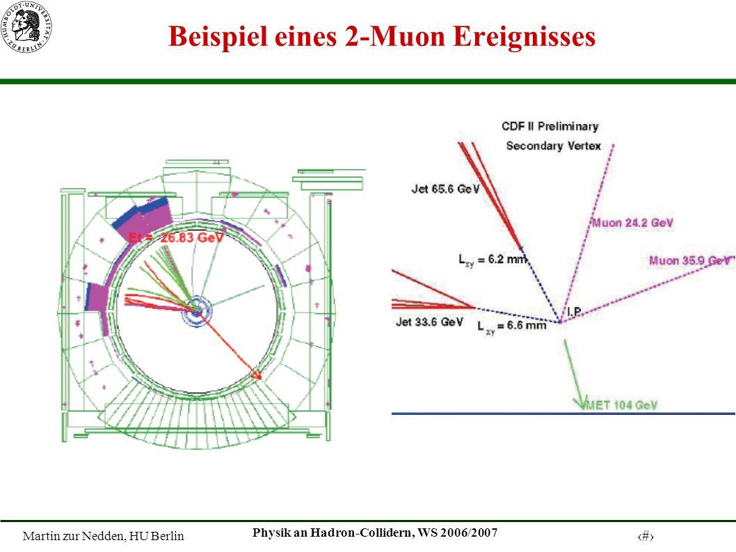 Martin zur Nedden, HU Berlin 22 Physik an Hadron-Collidern, WS 2006/2007 Beispiel eines 2-Muon Ereignisses